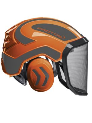 Protos Integral Forest Orange-Grau Forsthelm